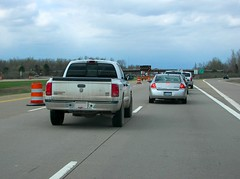 Lane blocking motorist on I-275 in southeastern Michigan