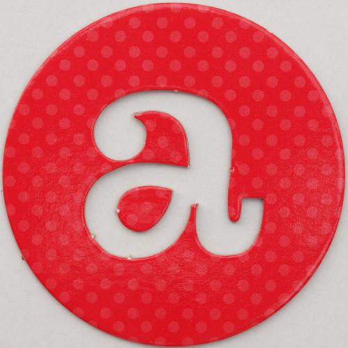 letter a images. coloured card disc letter a