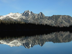 Mount Cashmere reflected in Colchuck Lake