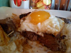 Cafe Cortadito Steak and Egg