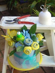 Kitchen Towel's Bouquet (Verusca's Cake) Tags: potflowers