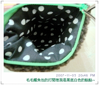 衣蝶本館創意市集買的鱷魚毛毛相機包(2)