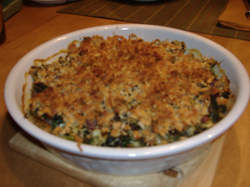chard/kale gratin