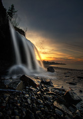 The Other Side (iJohn) Tags: ocean sunset sea lighthouse beach river waterfall novascotia silky harf outstandingshots margretesville