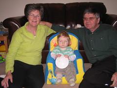 Little Man with Grandma & Grandard