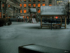 quiet evening (paul bica) Tags: city winter snow toronto dark outdoors still downtown mood alone quiet sad peaceful atmosphere calm forgotten serene lonely desolate sorrow stillness tranquil dex 2007 secluded undisturbed dexxus