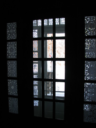 Snowflakes on the front door