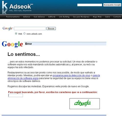 busqueda google en adseok