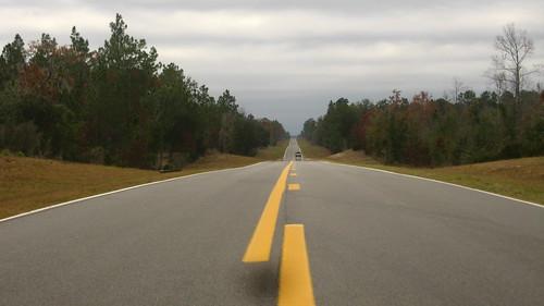 Smooth black top on highway 337 near Bronson, Florida, USA