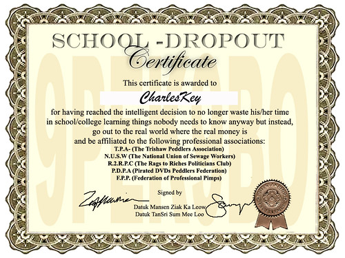 school drop out cert