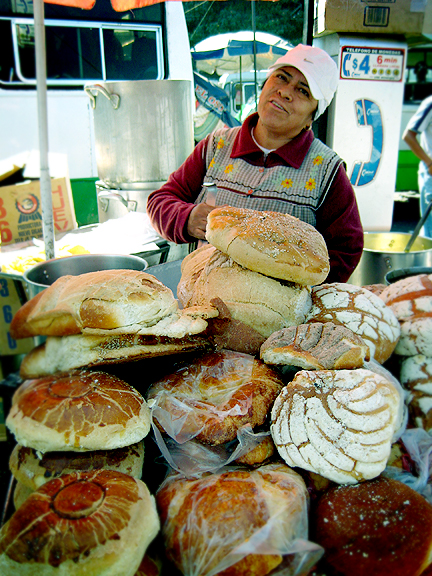 Mexican Baker Bread Lady
