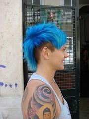 hair dye blue at wip-hairport lisbon portugal (wip-hairport) Tags: blue haircut color hairdye hair de lisboa lisbon corte wip colored salon dye tatoo cabelo dyedhair coloredhair cabeleireiro hairport