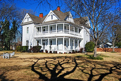Queen Anne design completed in 1903 (Texas Finn) Tags: tree architecture texas shadows queenanne victorian mansion soe midlothian blueribbonwinner supershot mywinners anawesomeshot impressedbeauty irresistiblebeauty diamondclassphotographer