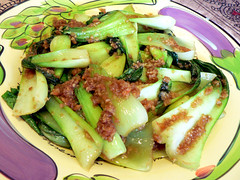 Stir-fried Bok Choy with Shrimp Paste