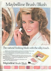 Vintage 80's Maybelline Blush (twitchery) Tags: vintage ads makeup 80s 70s blush vintageads vintagebeauty