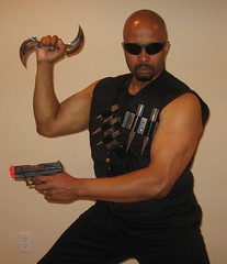 Blade: The Cosplay (MorpheusBlade) Tags: cosplay hero blade comicon glaive daywalker bladetheseries bladehouseofchthon ecbacc2009