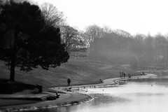 A Walk Down By The Lake (BarneyF) Tags: park people mist lake tree liverpool landscape path hill sefton capitalofculture liverpool08 diamondclassphotographer