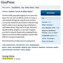 WordPress › GeoPress « WordPress Plugins