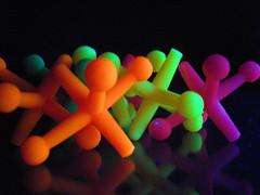Day 14 : Acid Jacks (Claudia Shultz) Tags: macro toy march blacklight jacks household project365
