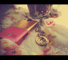 {   (  | Ruba , [ AWAY ]) Tags: pink flower love cup girl mobile gold ericsson sonyericsson luv chanel stylish iluvu hiar t650i sonyericssont650i