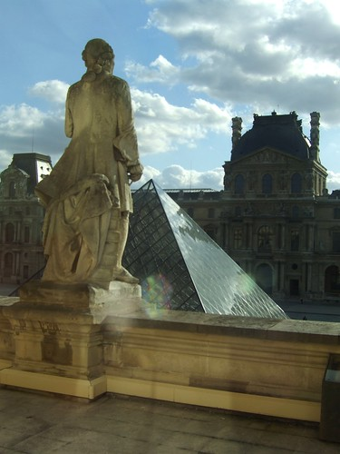 Louvre looking out of upper floor