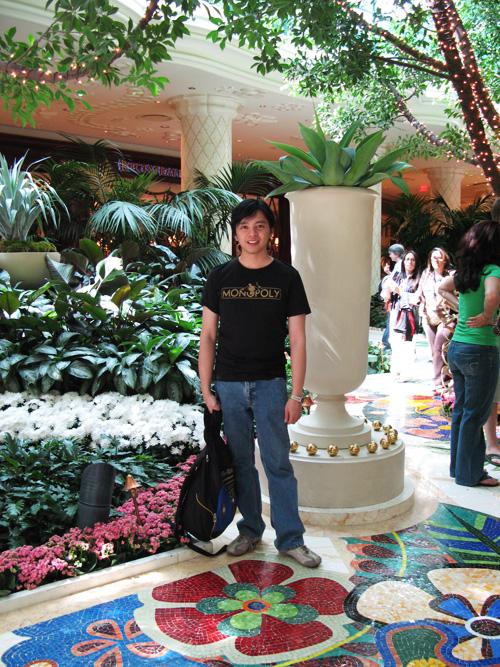 The Wynn lobby, with me