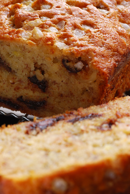 banana, hazelnut and choc chip bread© by haalo