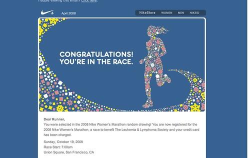 marathon welcome letter