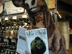 Reading (Woodland caribou) Tags: calgary caribou boreal mec