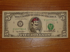 Super Mario Lincoln (Joe D!) Tags: money d super mario joe lincoln government presidents tender defaced dollars joed refacing