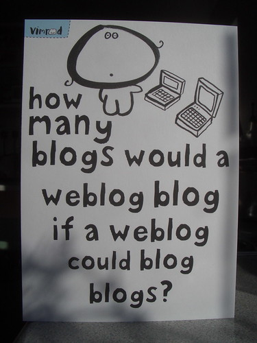 How many blogs would a weblog blog if a weblog could blog blogs? by dullhunk.