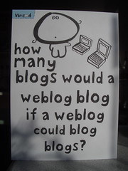 How many blogs would a weblog blog if a weblog could blog blogs? by dullhunk