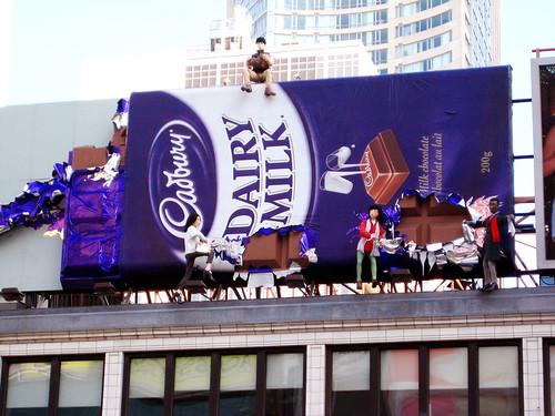 Cadbury chocolate billboard