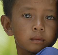 Eyes of Mabul Island / Kids of Sea Gypsies @North Borneo #001 (azj68@yahoo.com   +6 0138895959) Tags: life morning blue light boy sunset sea portrait eye water face kids sunrise river island boat eyes nikon coconut north bluesky malaysia