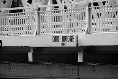 ord bridge (cactusbeetroot) Tags: signs bridges numbers railings clarkequay singaporeriver theriver