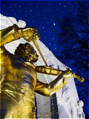 .. ..   () Tags: vienna blue sky music moon tree monument night stars gold romance violin tones stadtpark johannstrauss