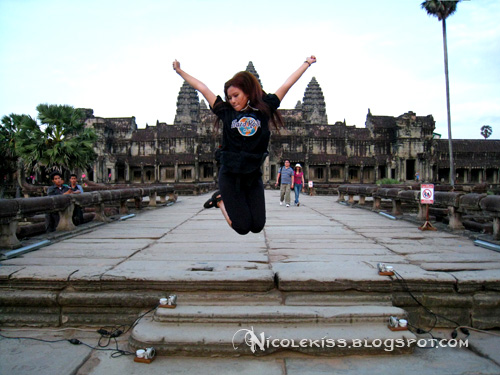 jumping at angkor wat