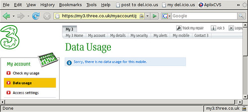 Three data usage