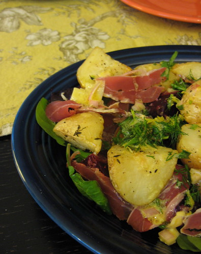 Beet, Potato and Prosciutto Salad