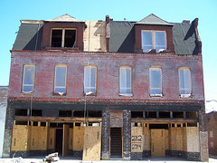 rehab begins on an historic property at Crown Square (image courtesy Old North St. Louis)