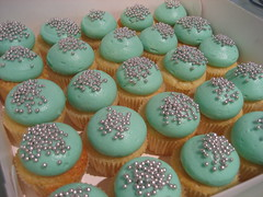Cupcakes for Tiffany & Co. (Sugadeaux Cupcakes) Tags: cakes cup cupcakes tiffany minis cachous sugadeaux sugardeaux