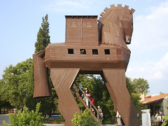 A replica of the Trojan horse