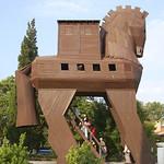 A replica of the Trojan horse (Turkey)