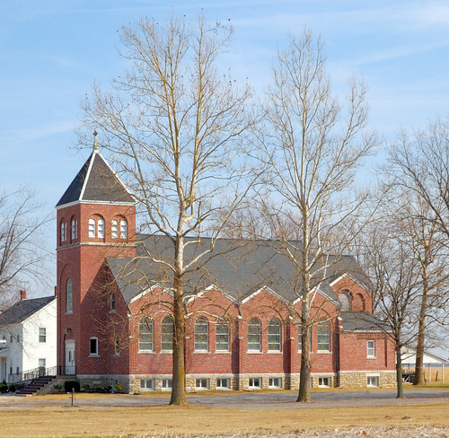 Saint Mary's Roman Catholic Church, in Fieldon, Illinois, USA - exterior