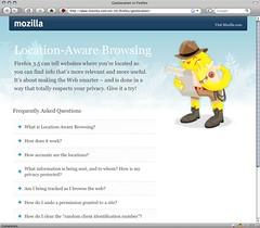 Firefox Geolocation homepage