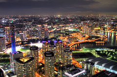 [フリー画像] 建築・建造物, 都市・街, 夜景, 日本, 神奈川県, HDR, 201005172300
