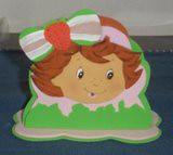 porta guardanapo moranguinho (lollyart) Tags: eva biscuit infantil casamento enfeites festas maternidade lembrancinhas