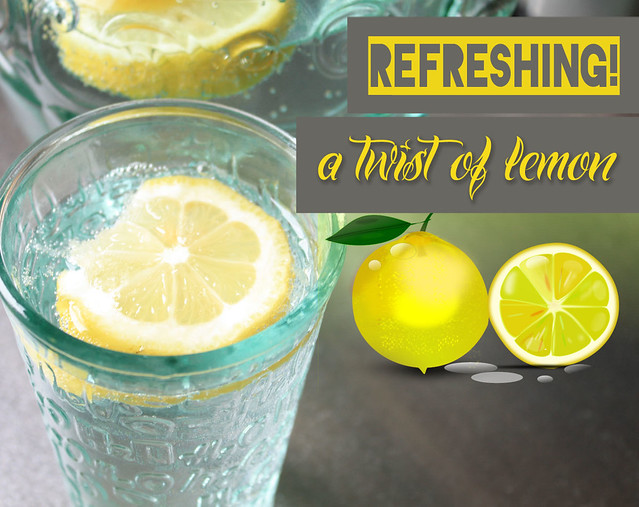 summer drink - lemon water