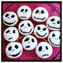 Jack Skellington cookies (Helen's Heavenly Sweets) Tags: jackskellington halloweencookies sugarcookies trickortreat nightmarebeforechristmas