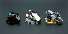 Team Era Speederbikes (cmaddison) Tags: lego space scifi speeder bike hover time